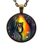 Owl and Fireflies Pendant Necklace - Laura Milnor Iverson Official Site