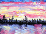 Easter Sunrise in the Pacific Northwest Original Painting Laura Milnor Iverson Official Site
