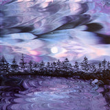 Pacific Northwest In Purple Moonlight Original Painting - SOLD