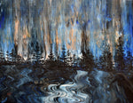 Twilight Blue Rain in the Pacific Northwest Original Painting Laura Milnor Iverson Official Site