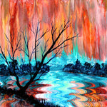 Bare Tree by Mary's River Original Painting
