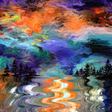 Pacific Northwest Lake Sunset Original Painting Laura Milnor Iverson Official Site
