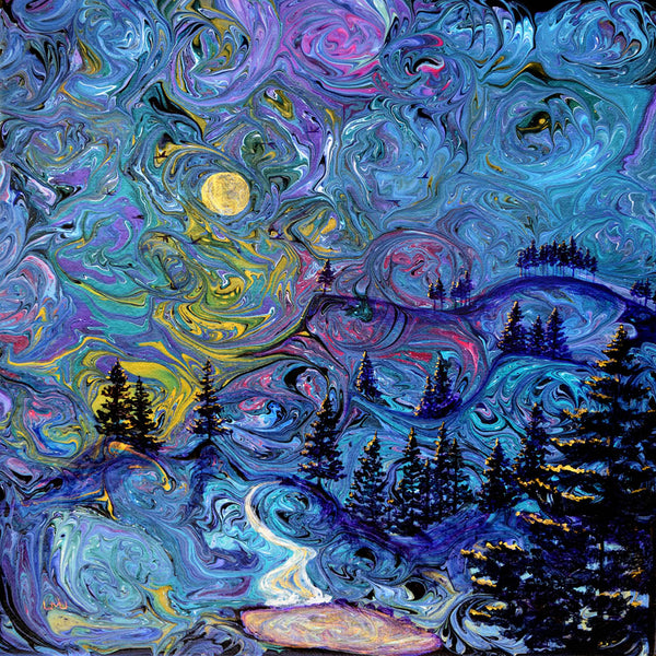 Starry Night in the Pacific Northwest Original Painting
