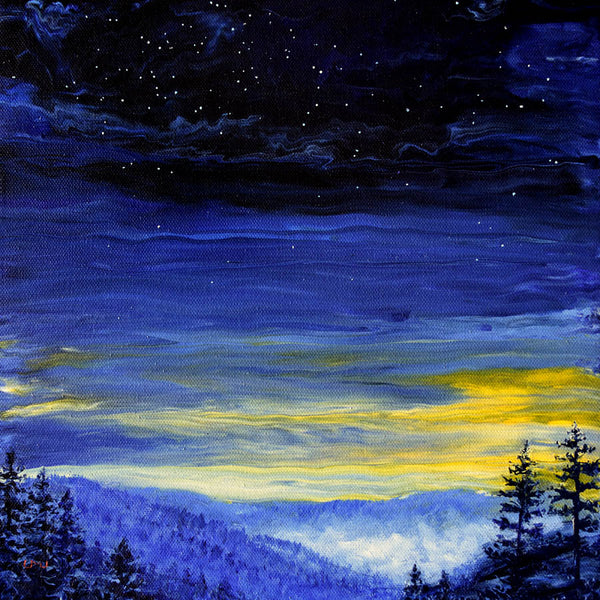 Pacific Northwest Twilight Original Painting