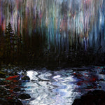 Rain at Dusk and Rushing River Original Painting Laura Milnor Iverson Official Site