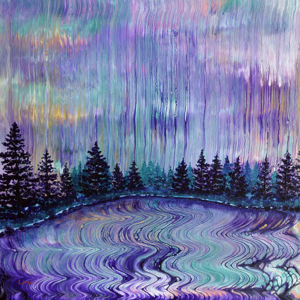 Oregon Purple Rain Original Painting Laura Milnor Iverson Official Site
