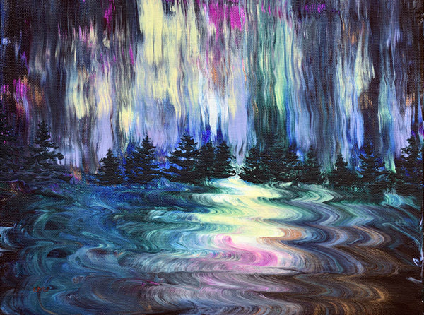 Aurora Borealis in the Rain Original Painting - NFS - Prints Available