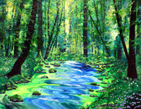 Enchanting Woodland Original Painting Laura Milnor Iverson Official Site