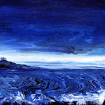 Blue Seascape Original Painting - Laura Milnor Iverson Official Site