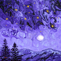 Purple Night in the Pacific Northwest Original Painting