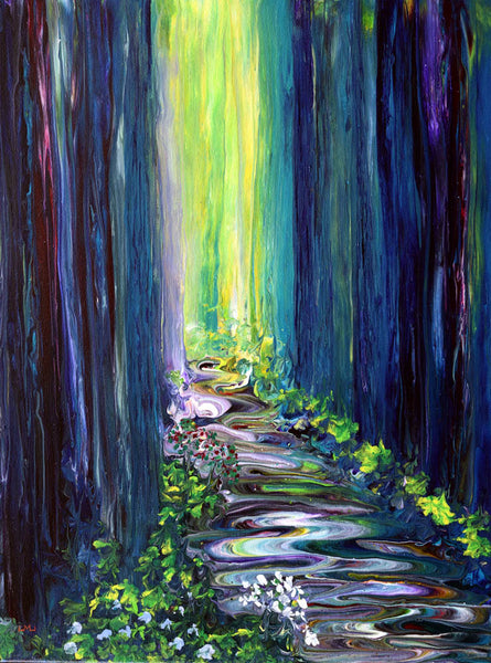 A Stream Runs Deep in the Woods Original Painting Laura Milnor Iverson Official Site