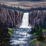 Dusk at Tumalo Falls Original Painting Laura Milnor Iverson Official Site