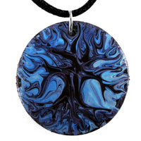 Tree of Life Original Painting on Wood Handmade Pendant Necklace Laura Milnor Iverson Official Site
