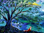 Fox by a River Original Painting Laura Milnor Iverson Official Site