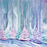 Pine Trees in Quiet Snowfall Original Painting
