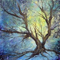 Bare Tree on a Winter Morning Original Painting