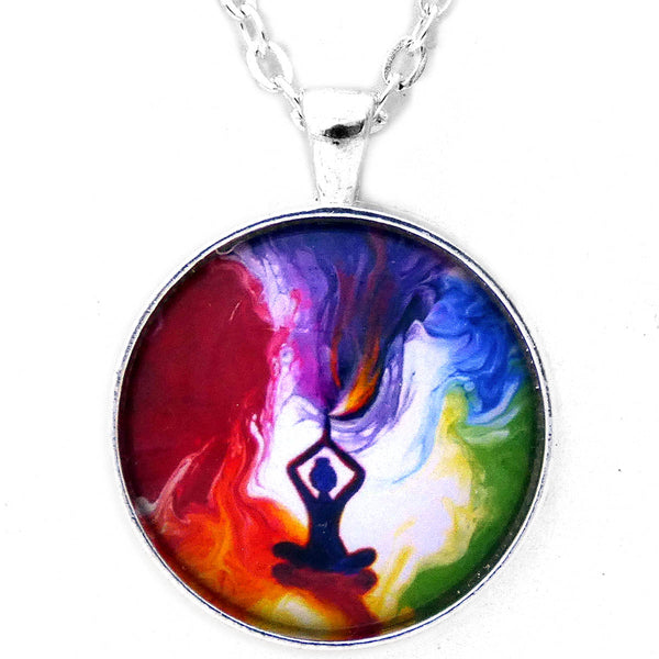 Violet Flame Tara Pendant Necklace - Laura Milnor Iverson Official Site