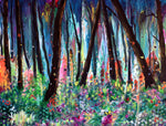 Woodland Wildflowers and Butterflies Original Painting Laura Milnor Iverson Official Site