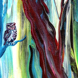 Owl by a Babbling Brook Original Painting