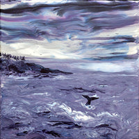 Whale Tail in Depoe Bay Original Painting