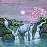Zen Waterfalls Meditation Original Painting
