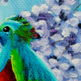 Quetzal Bird In Jacaranda Tree Original Painting