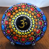 Om Dotted Meditation Painted Rock