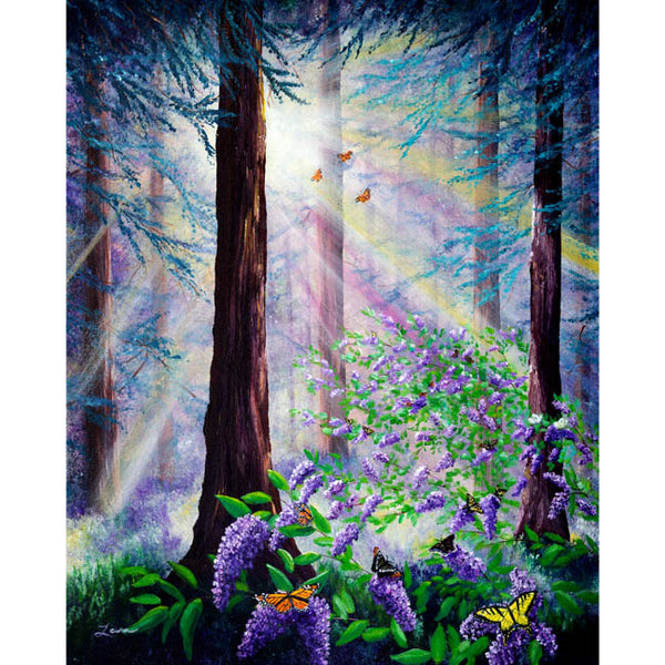 Butterfly Grove in Redwood Forest Original Painting