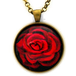A Perfect Red Rose Pendant