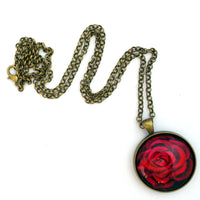 A Perfect Red Rose Pendant Necklace Laura Milnor Iverson Official Site