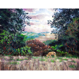 Deer on a Hilltop Vista Original Painting - Prints Available