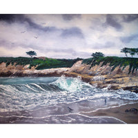 Gray Morning At Santa Cruz Original Painting