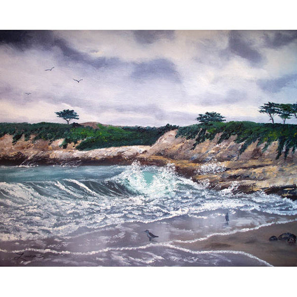 Gray Morning At Santa Cruz Original Painting - Laura Milnor Iverson Official Site