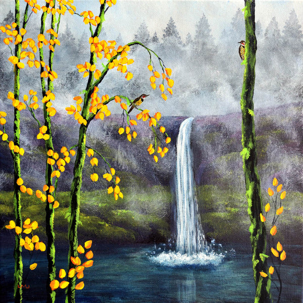 Flickers at Silver Falls Original Painting