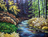 Silver River in Late Summer Original Painting Laura Milnor Iverson Official Site