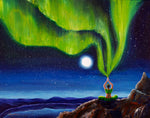 Green Tara Creating the Aurora Borealis Original Painting Laura Milnor Iverson Official Site