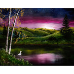 Twilight at Vasona Lake Original Painting - SOLD