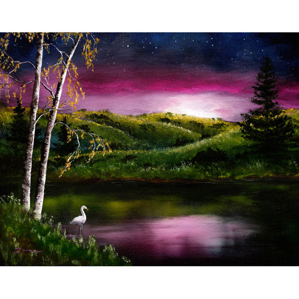 Twilight at Vasona Lake Original Painting