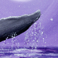 Whale Tail in Lavender Moonlight Original Painting - SOLD - Prints Available