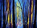 Fireflies in Winter Light Original Painting Laura Milnor Iverson Official Site