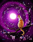 Flame Point Siamese Cat In Dancing Cherry Blossoms Original Painting