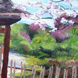 Siamese Cat At Hakone Side Gate Original Painting