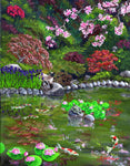 Cat, Turtle And Water Lilies Original Painting Laura Milnor Iverson Official Site