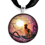 Cherry Blossom Waltz Handmade Pendant Necklace - Laura Milnor Iverson Official Site