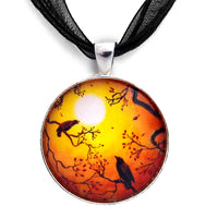 Harvest Crows Handmade Pendant Necklace - Laura Milnor Iverson Official Site