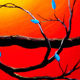 Entwining Branches of Turquoise Leaves Original Painting