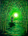Green Tara in the Hall of Bamboo Original Painting Laura Milnor Iverson Official Site