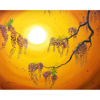 Wisteria In Golden Glow Original Painting