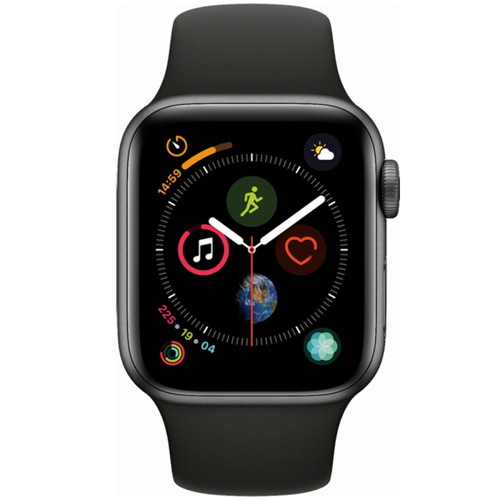 Apple Watch Series 4 GPS 40mm Space Gray Case with Black Sport Band MU662LL/A