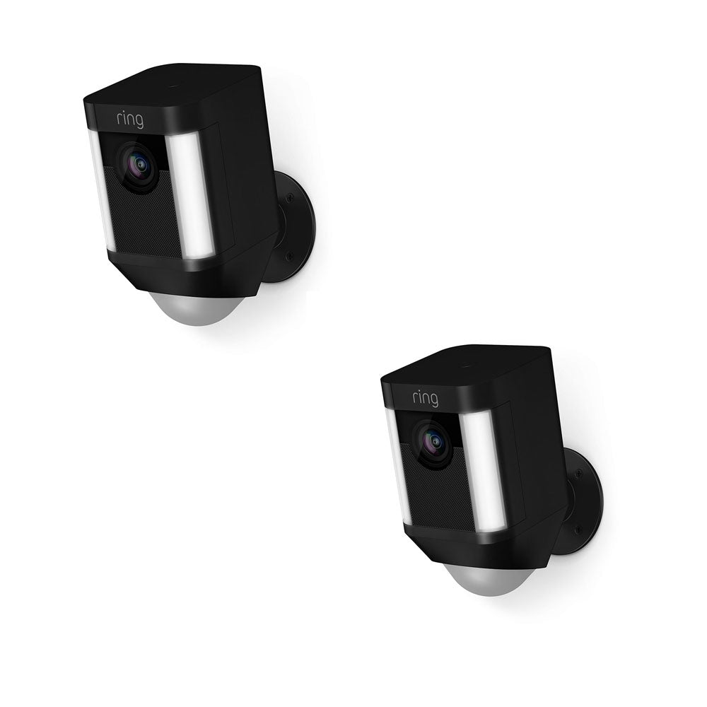 2 Pack - Ring Spotlight Cam Battery Security Camera 8SB1S7-BEN0 Black Brand New